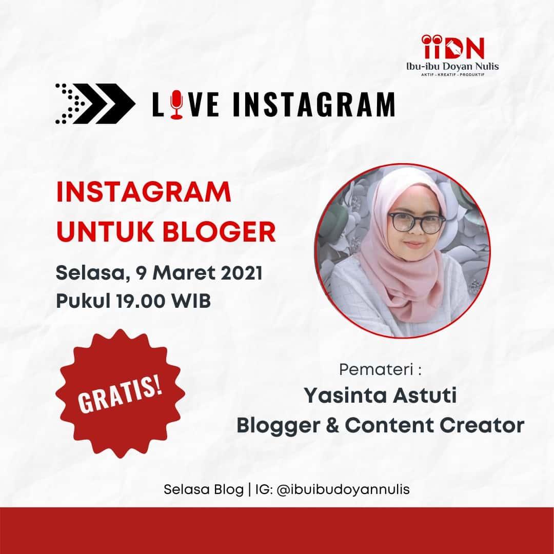 optimasi instagram untuk blogger